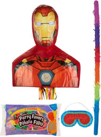 Iron Man Pinata Kit with Candy & Favors