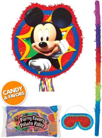 Mickey Mouse Pinata Kit with Candy & Favors