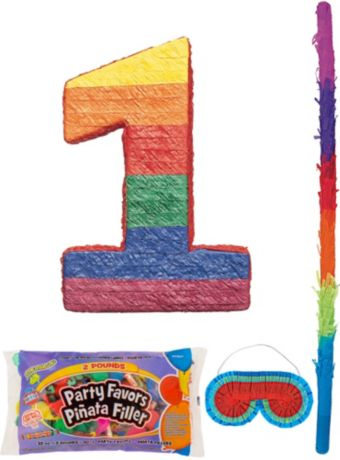 Number 1 Pinata Kit with Candy & Favors