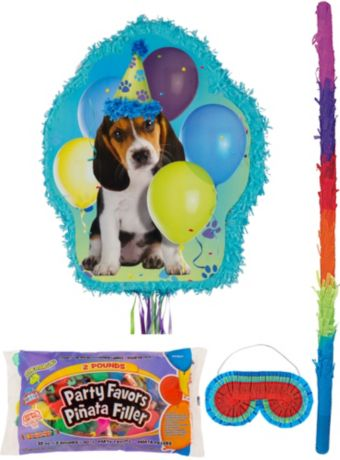 Party Pups Pinata Kit with Candy & Favors