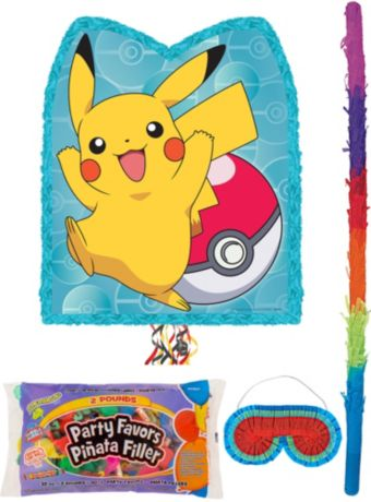 Pikachu Pinata Kit with Candy & Favors