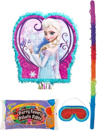 Anna & Elsa Pinata Kit with Candy & Favors - Frozen