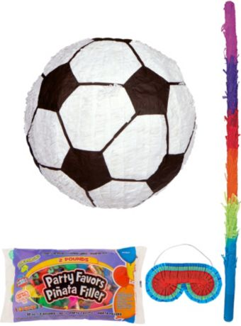 Soccer Pinata Kit with Candy & Favors