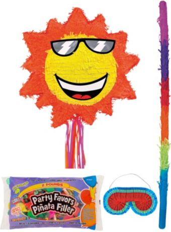 Sun Pinata Kit with Candy & Favors