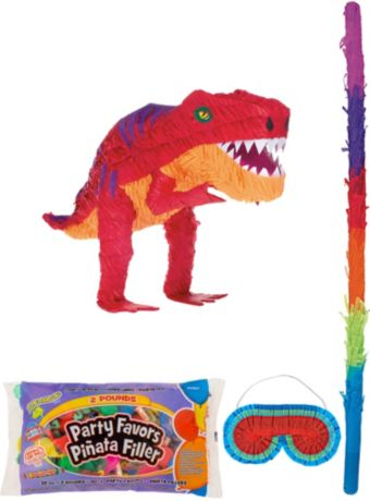 T-Rex Dinosaur Pinata Kit with Candy & Favors