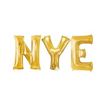 Giant Gold NYE Letter Balloon Kit 4pc