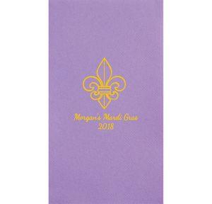 Personalized Mardi Gras Premium Guest Towels
