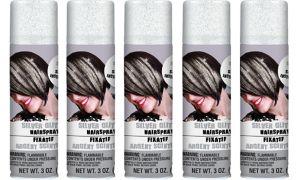 Glitter Silver Hair Spray 5ct