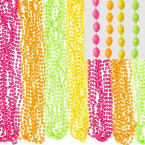 Black Light Neon Bead Necklaces 100ct