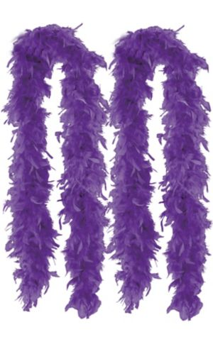 Purple Feather Boas 2ct