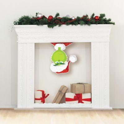 Glitter Grinch Santa Cutout