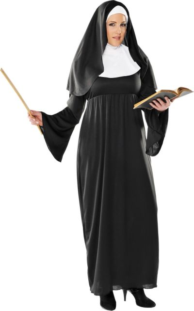 Sexy plus size nun costume