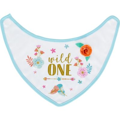 Boho Girl 1st Birthday Bib