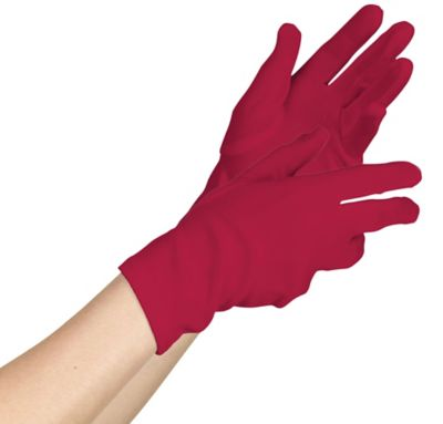 Womens Short Red Gloves