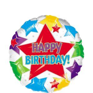 Colorful Stars Birthday Balloon