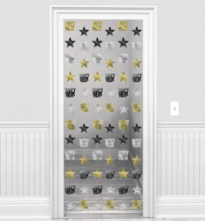 Gold & Silver Stars New Year's String Decorations 6ct