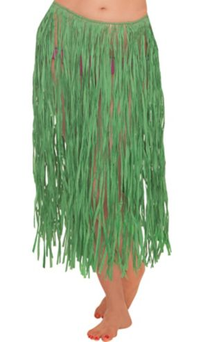 Adult Green Grass Skirt 28in Party City