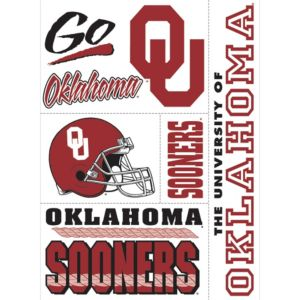 Oklahoma Sooners Cling Decals 5ct