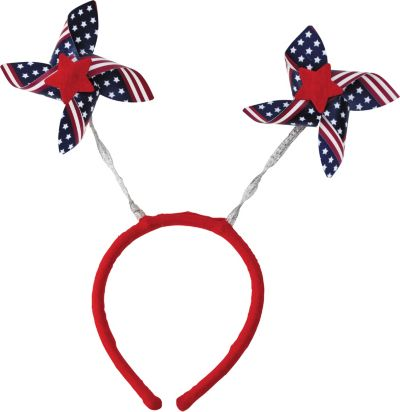 Pinwheel Patriotic Head Bopper