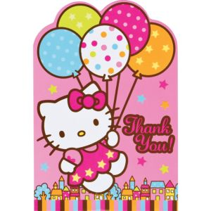 Hello Kitty Thank You Notes 8ct