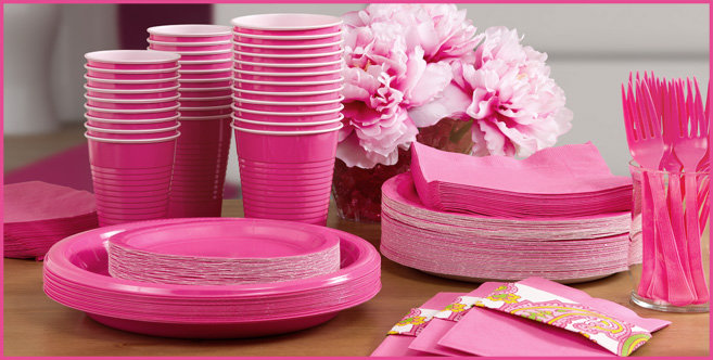 Solid Bright Pink Tableware #3
