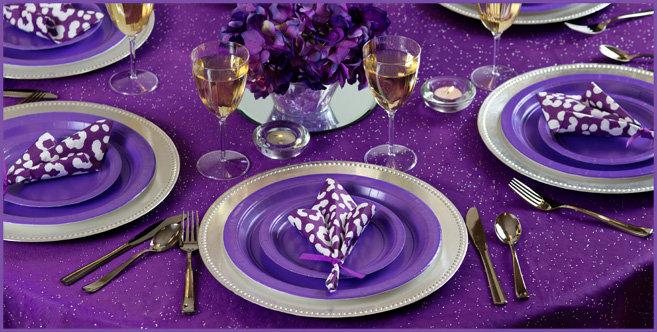 Purple Tableware Party Supplies City