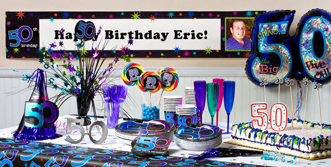 The Party Continues 50th Birthday Party Supplies Party