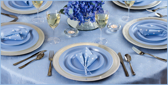 Solid Pastel Blue Tableware #2