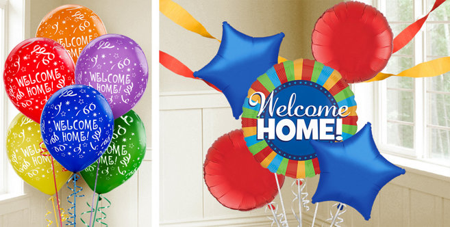 Welcome home balloons party city for Welcome home decorations
