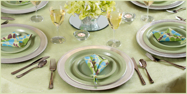 Solid Leaf Green Tableware #2