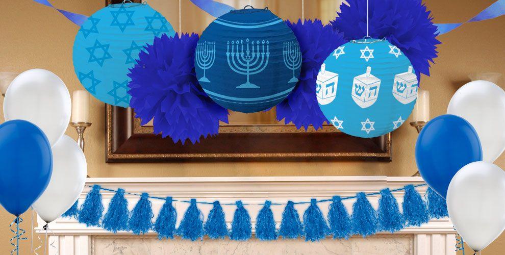 hanukkah decorations hanukkah lights garlands cutouts party city - Hanukkah Decorations