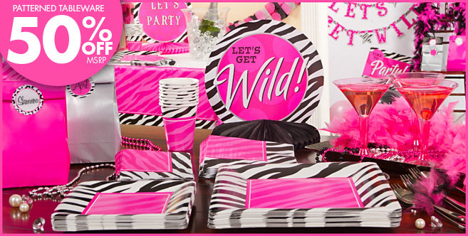 zebra party personalize it party supplies throw one fabulous party