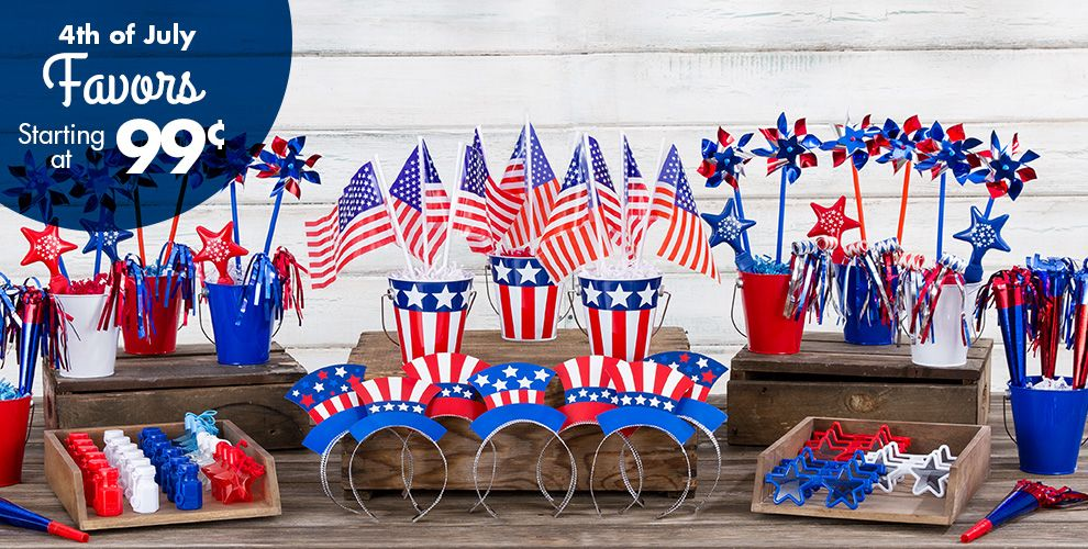4th of july party favors hats novelties party city for 4th of july party decoration