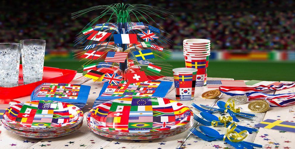 International party supplies around the world party for Around the world party decoration ideas