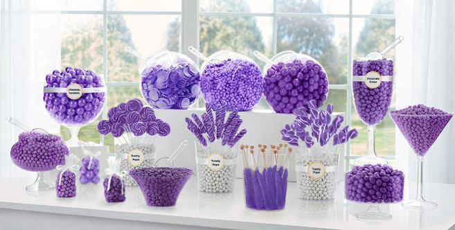 Purple Candy Buffet Supplies Purple Candy Amp Containers