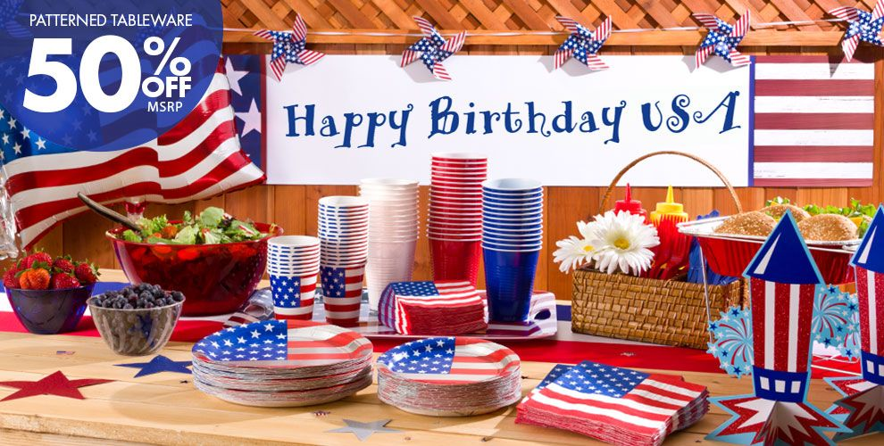 american flag party supplies party city