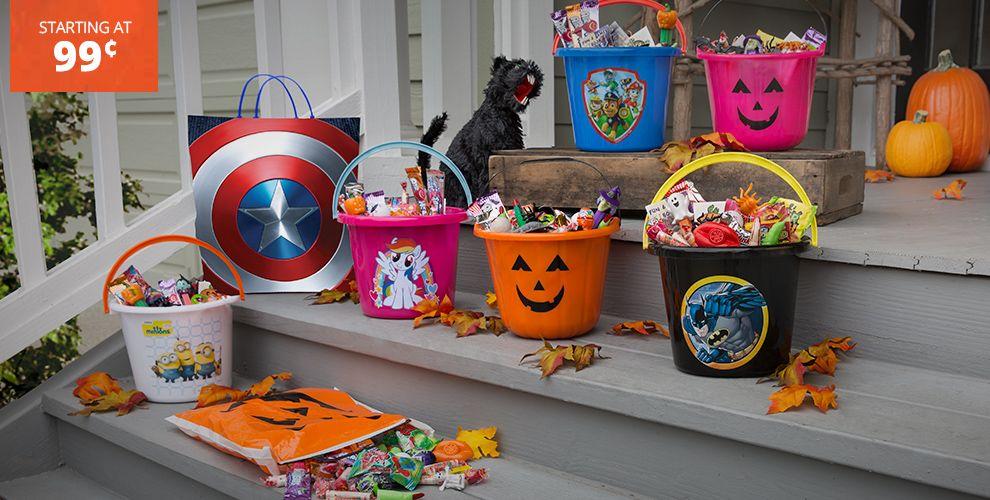 Halloween Treat Bags and Buckets
