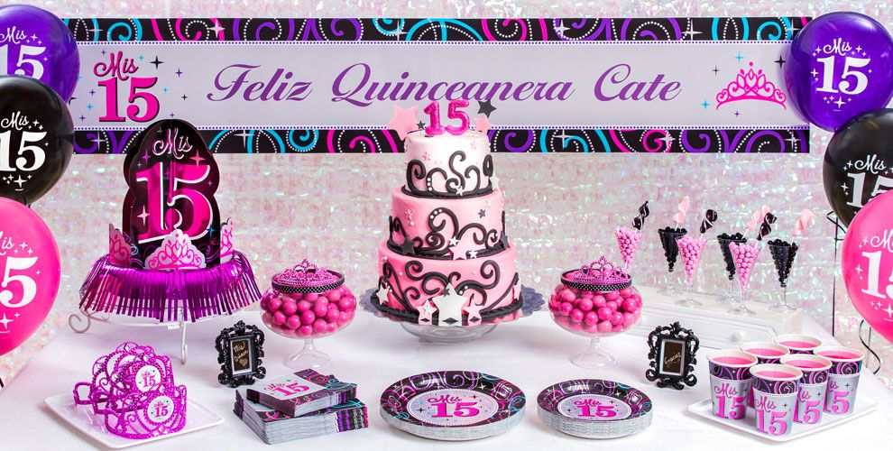 mis quince quinceanera party supplies quinceanera decorations party city - Party City Decorations