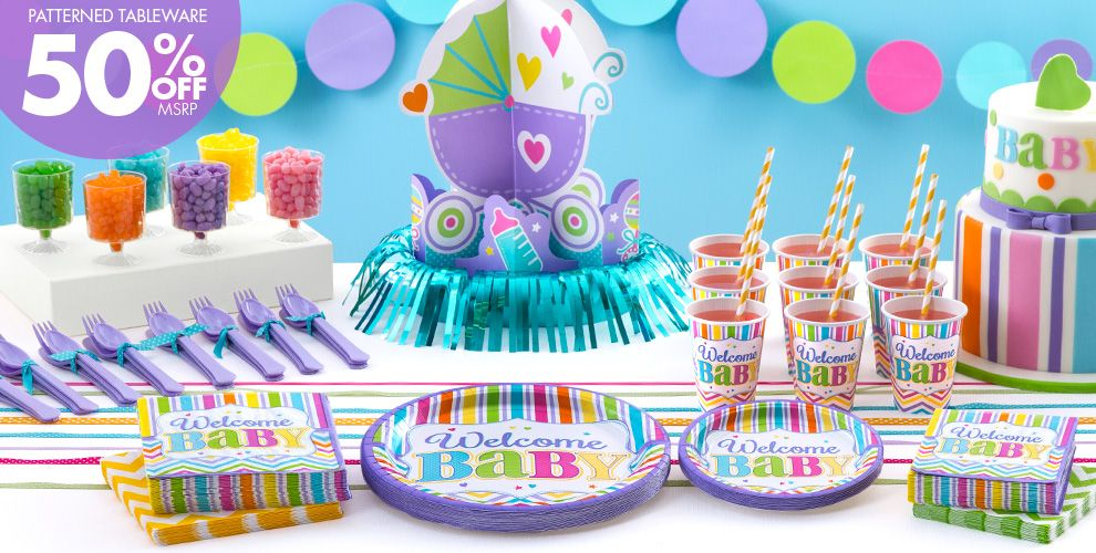 Girl Baby Shower Treats Table Idea - Party City | Party City