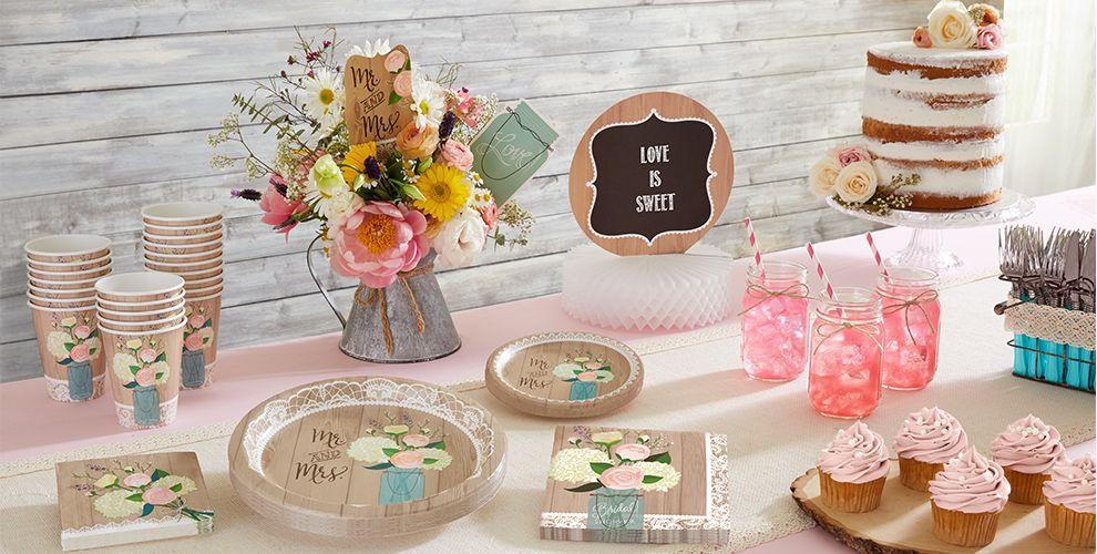 Rustic Wedding Party Supplies Bridal Shower Themes Bridal