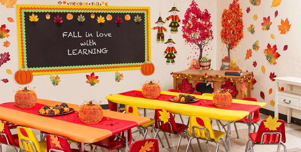 Fall classroom decorations party city for Art classroom decoration ideas
