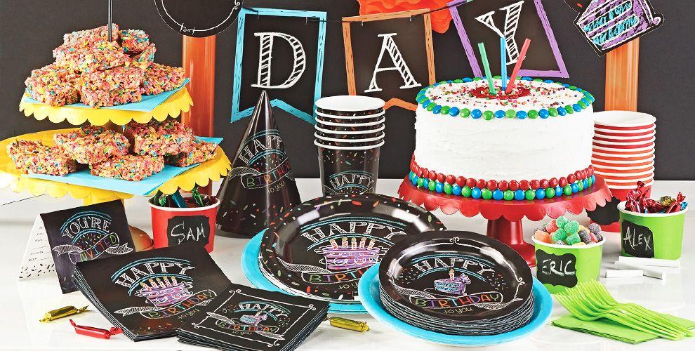 chalkboard birthday party supplies chalk art party party city - Partycitycom Birthday Party Supplies