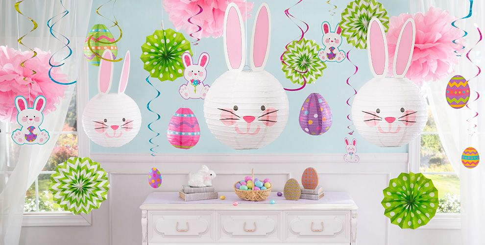 Hanging easter decorations party city