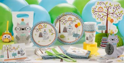 Boy 1st Birthday Party Supplies Happi Woodland Party City