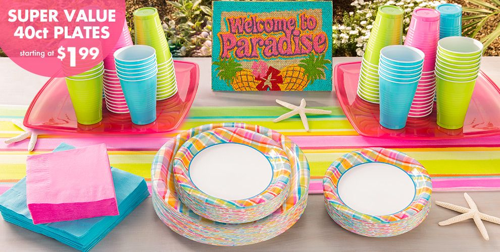 Sunny Plaid Party Supplies