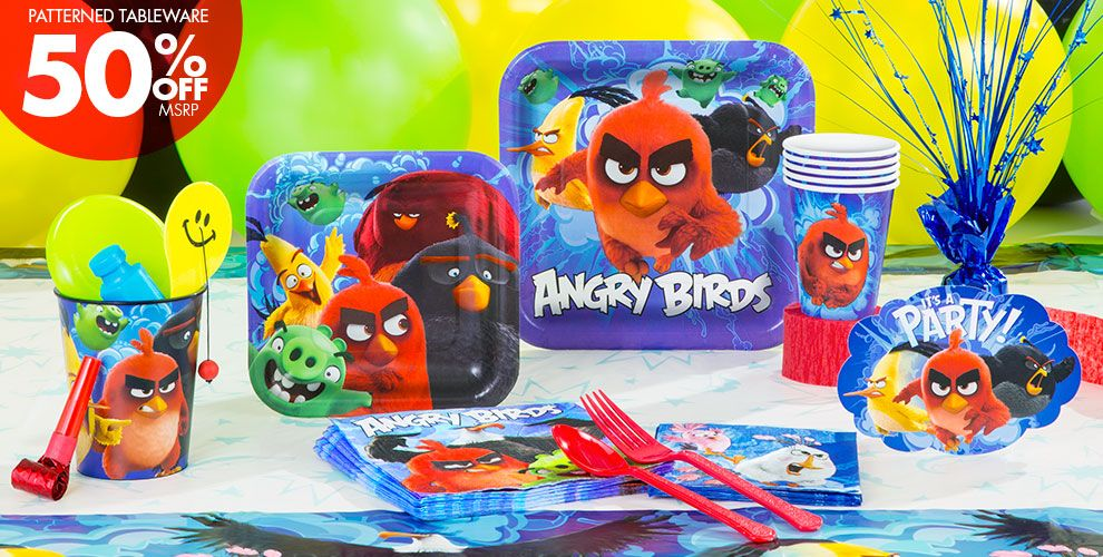 The angry birds movie party supplies angry birds for Angry birds party decoration ideas