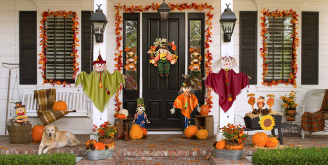 Fall Outdoor Decorations Party City