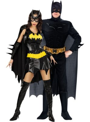 sc 1 st  Party City & Batgirl u0026 Batman Couples Costumes | Party City
