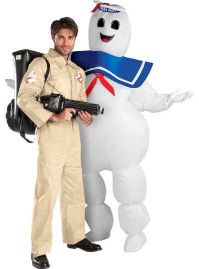 Ghostbusters and Inflatable Stay Puft Marshmallow Man Costume