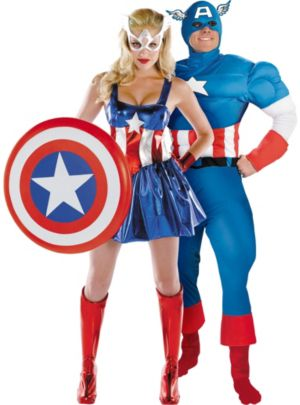 Captain America Couples Costumes